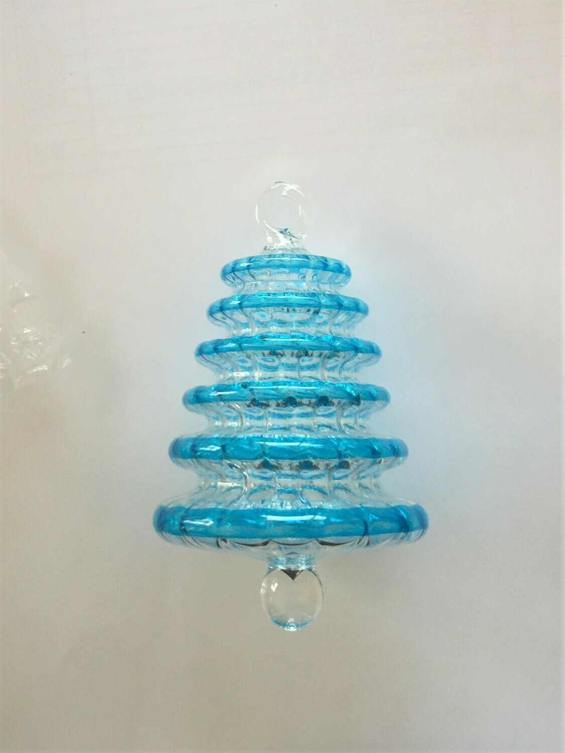 Tree Glass Ornament, Turquoise