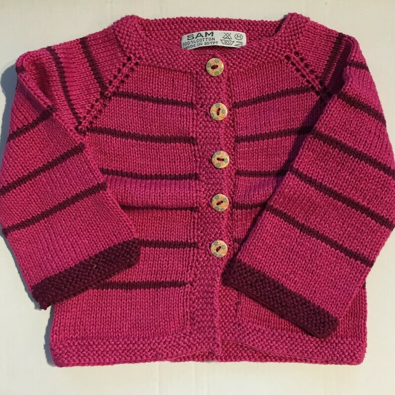 Fuchsia & Burgundy Striped Jacket (Medium)