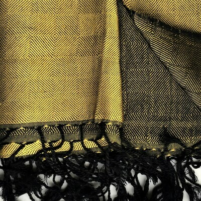 Double-faced Shawl Silk Dull Gold