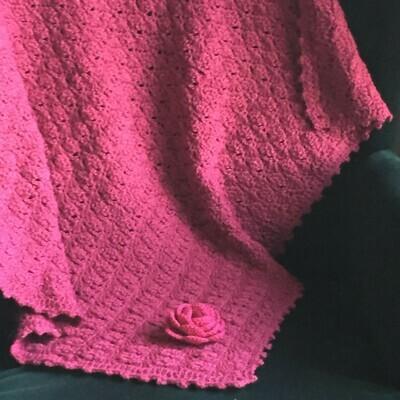 Mini Blanket: Dark Fuchsia