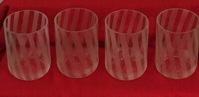 Set of diagonal stripe glasses, small