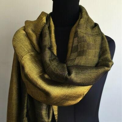 Double-face Shawl Art Silk Bright Gold