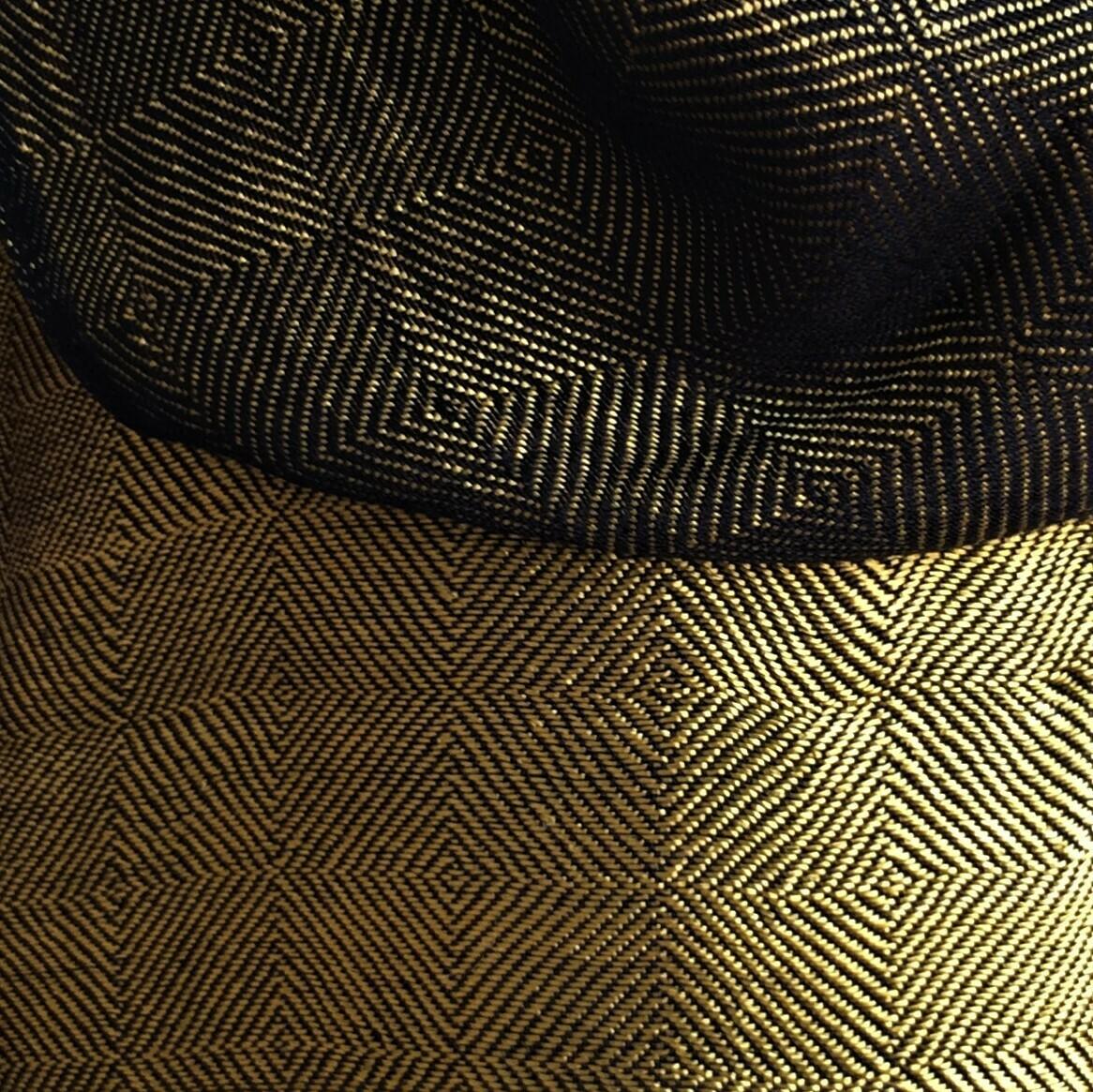 Double-face Shawl Art Silk Dull Gold