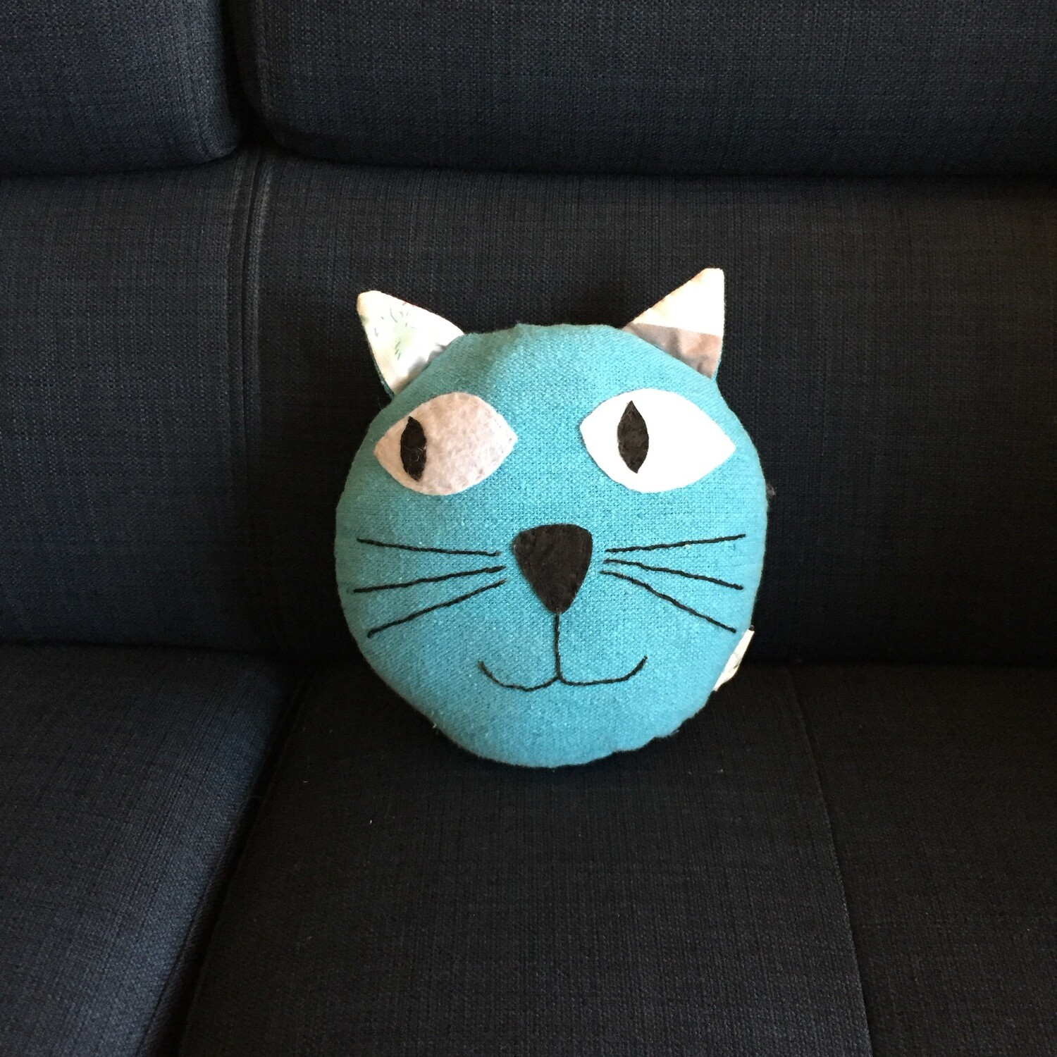 Cat Pillow Turquoise (Small)