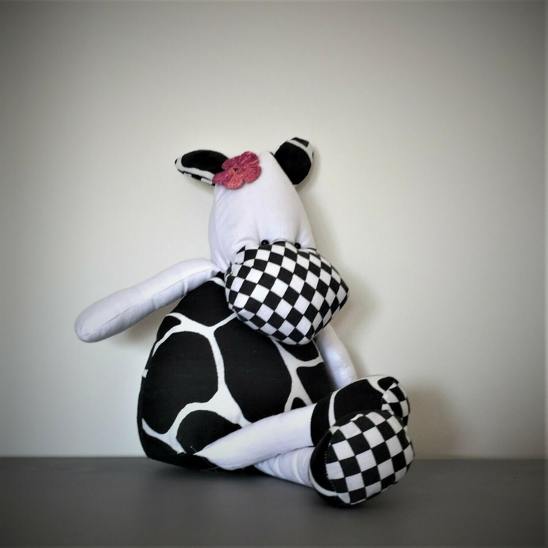 Cow Stuffed Toy (B&W)