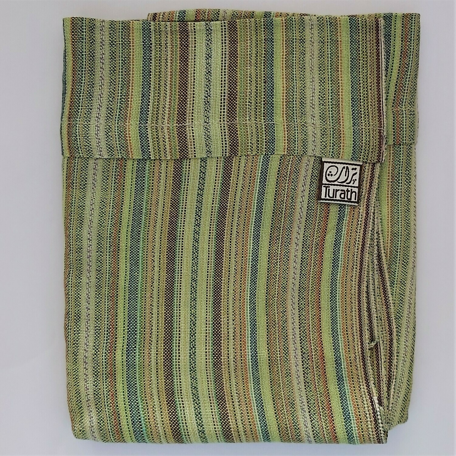 Infinity Small Scarf Green Stripes