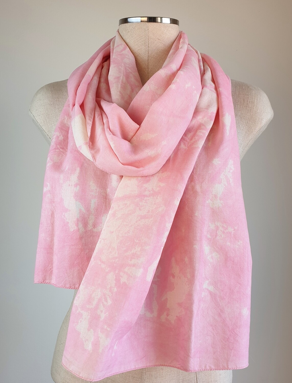 Hand-dyed Ombre Scarf: Rose Quartz
