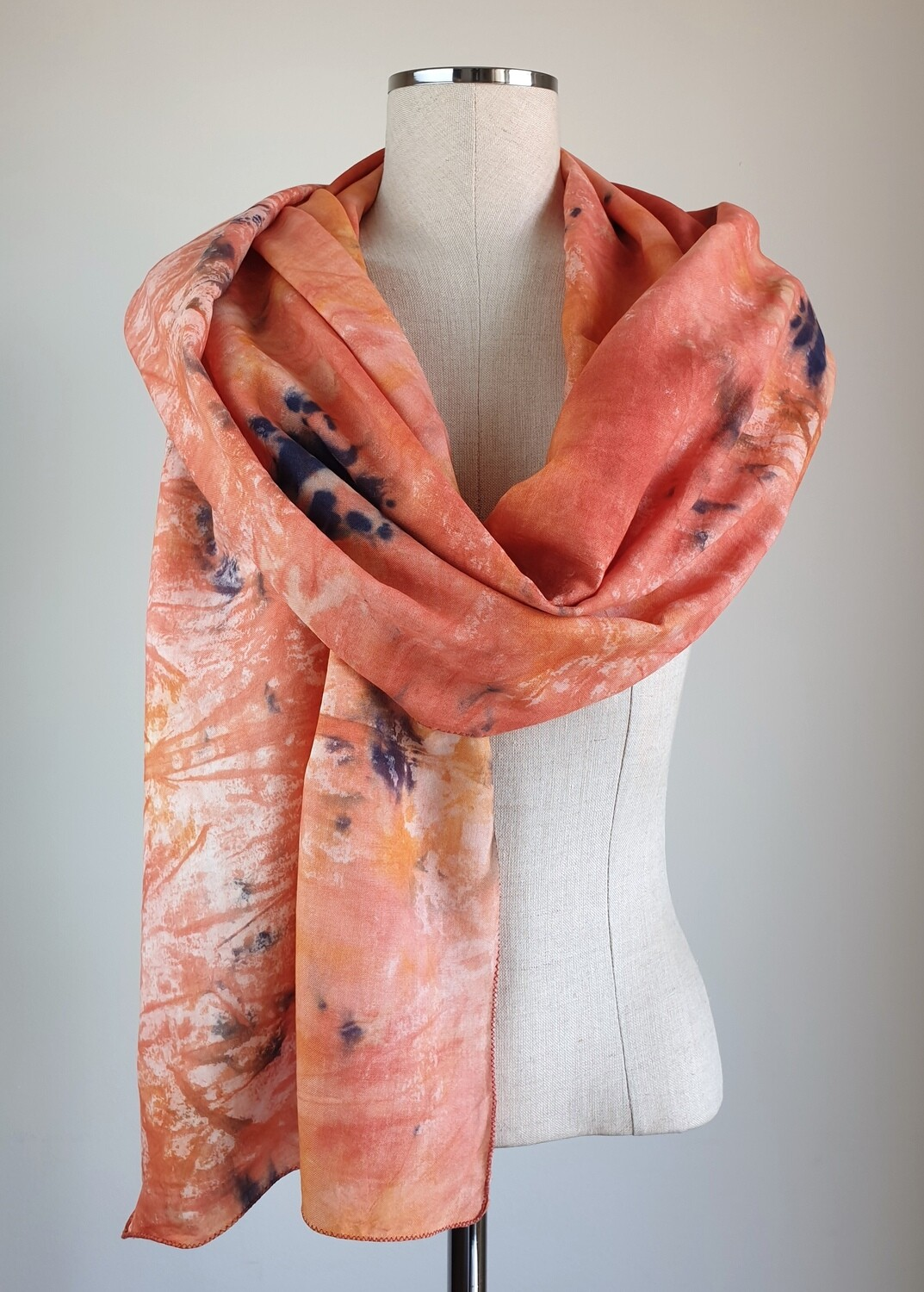 Hand-dyed Ombre Scarf: Iolite Sunstone #3