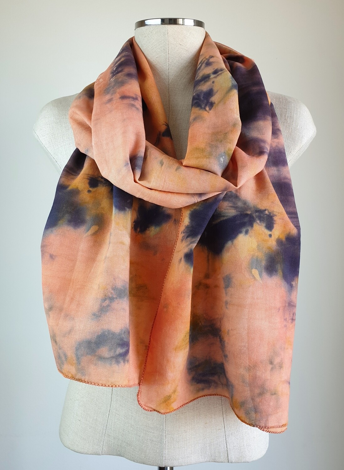 Hand-dyed Ombre Scarf: Iolite Sunstone #2