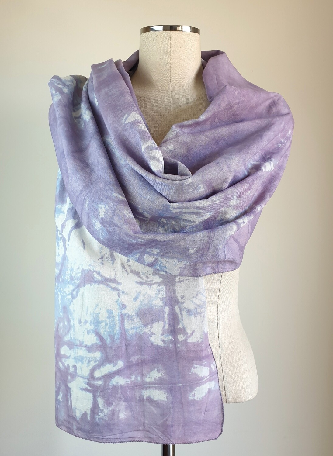 Hand-dyed Ombre Scarf: Fluorite
