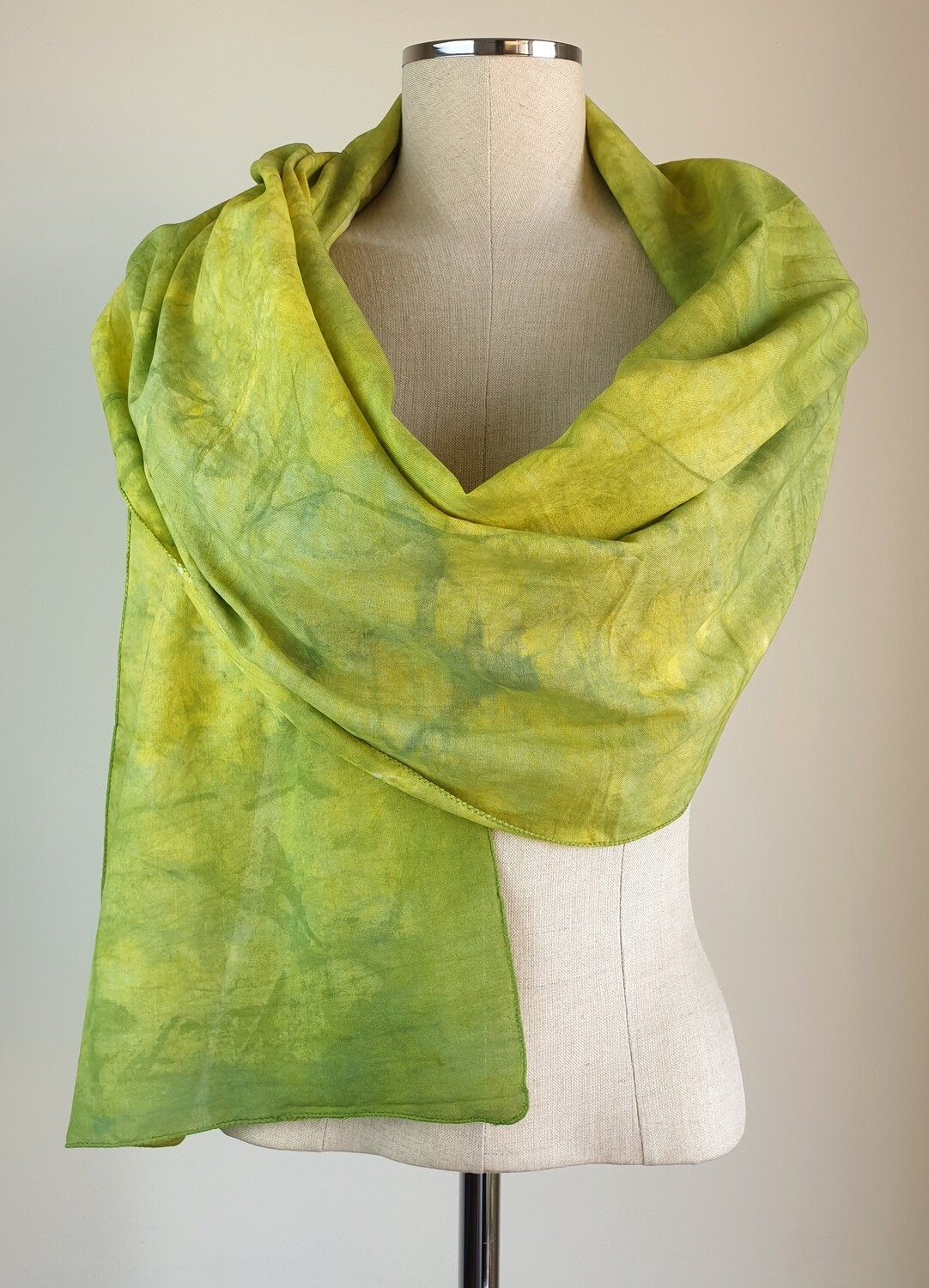 Hand-dyed Ombre Scarf: Heliodor #2