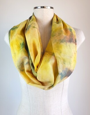 Hand-dyed Ombre Scarf: Yellow Dravite