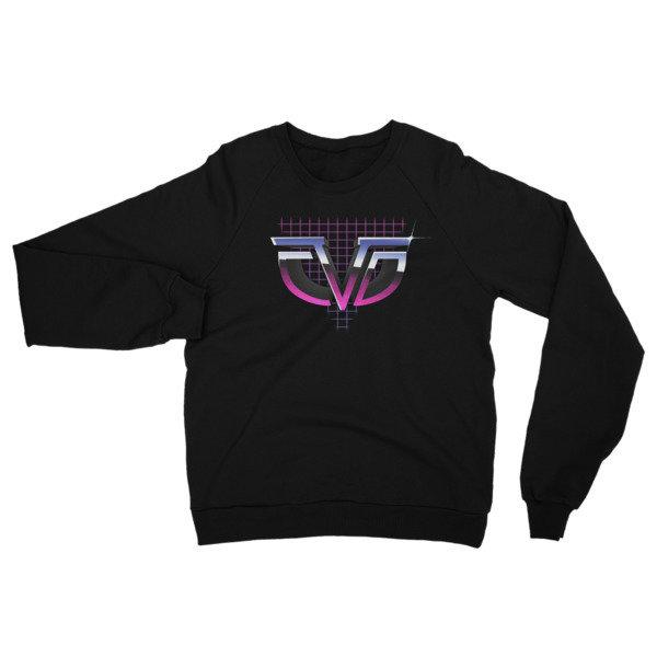 Retro Chasing da Vinci California Fleece Raglan Sweatshirt (Unisex)