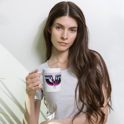 Retro Chasing da Vinci Mug (Right-Handed)