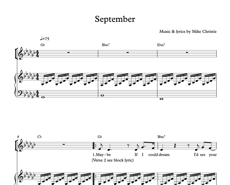 'September' Digital Sheet Music