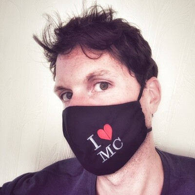 'I ♥ MC' Face Mask