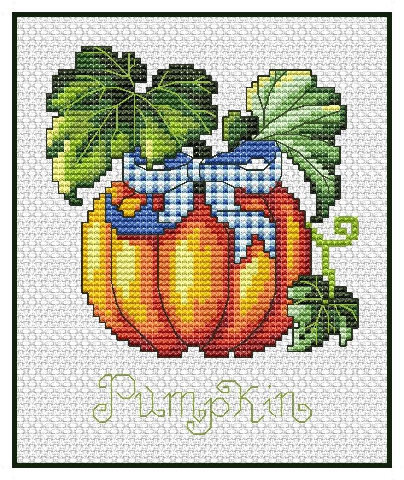 Pumpkin Cross Stitch Pattern PDF Instant Download Halloween Cross Stitch Easy Cross Stitch Cute Cross Stitch Nursery Cross Stitch Modern