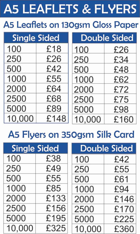 A5 Leaflets & Flyers