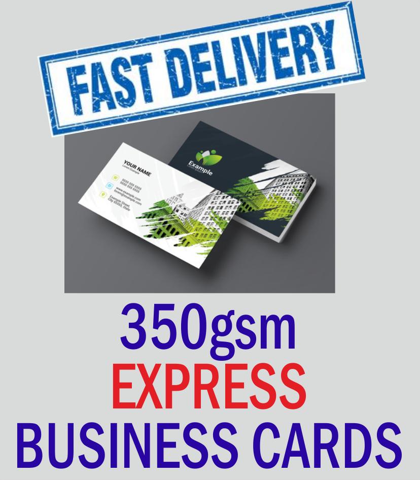 350gsm Express Business Cards