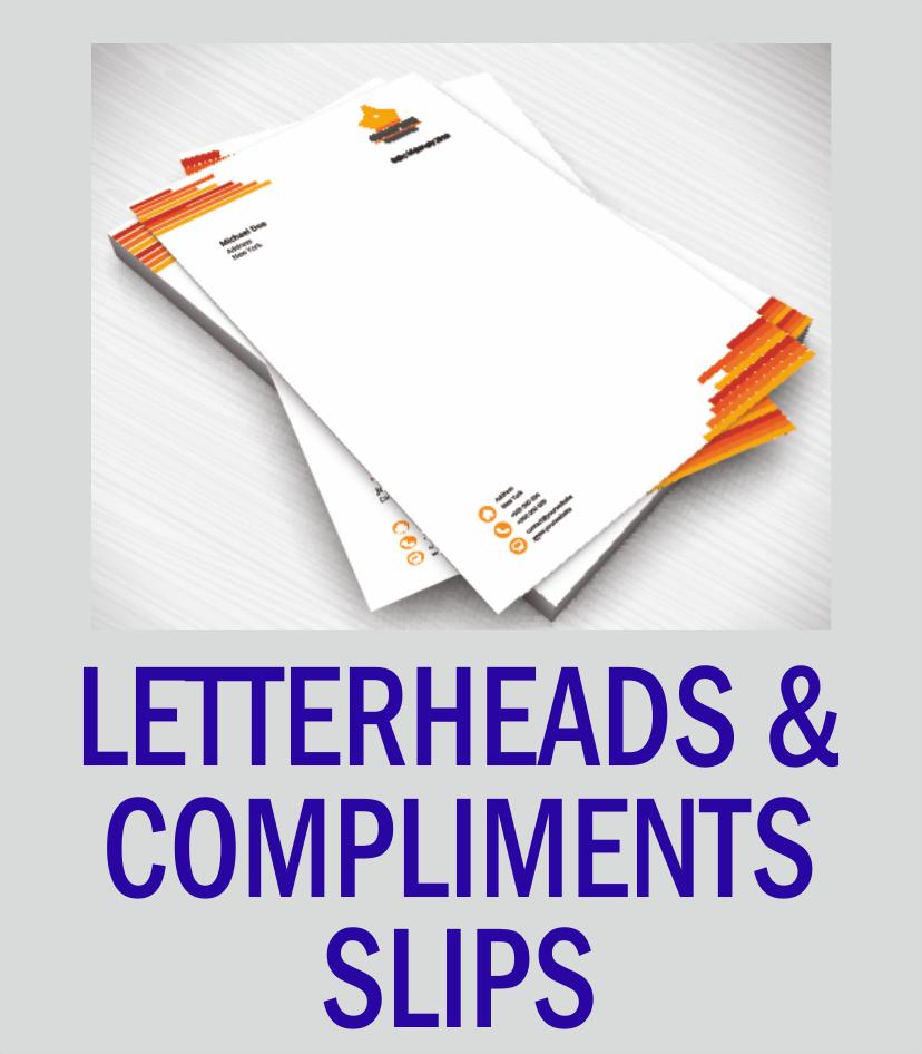 Letterheads & Compliments Slips