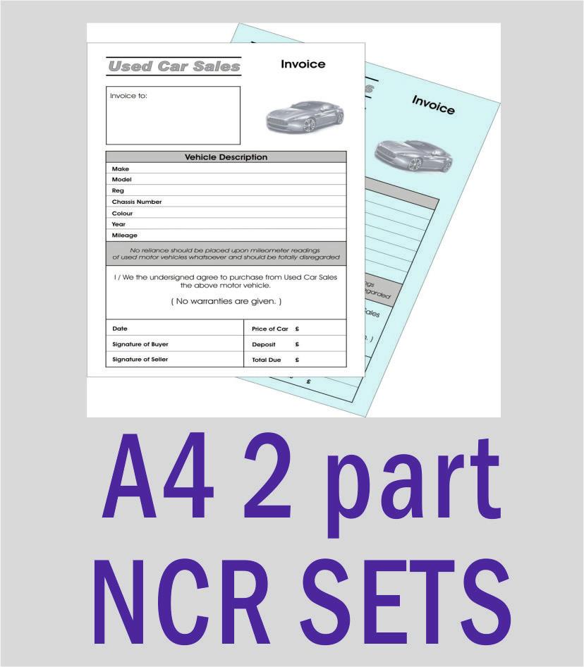 A4 2 Part NCR Sets