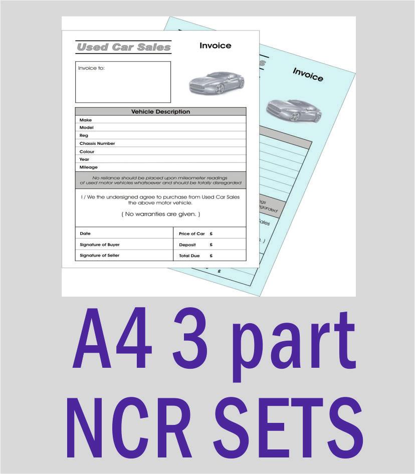 A4 3 Part NCR Sets