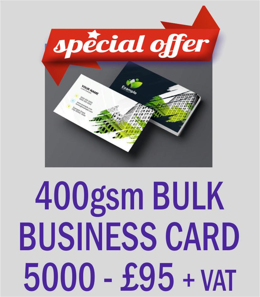 400gsm Bulk Bargain Business Cards