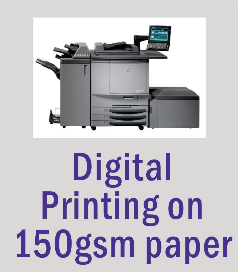A4 Digital Printing on 150gsm Gloss or Smooth Matt Paper