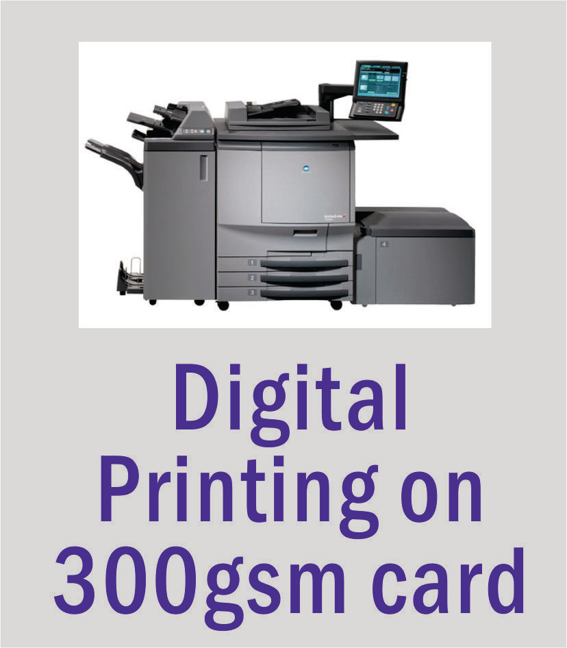 A4 Digital Printing on 300gsm Gloss or Smooth Matt Card