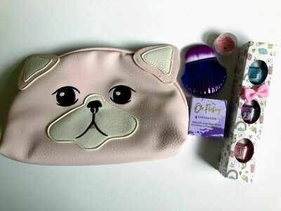 Play Makeup Gift Bag - Pink Dog