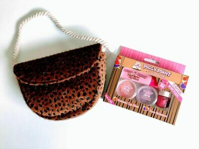 Play Makeup Gift Bag - Brown Cheetah
