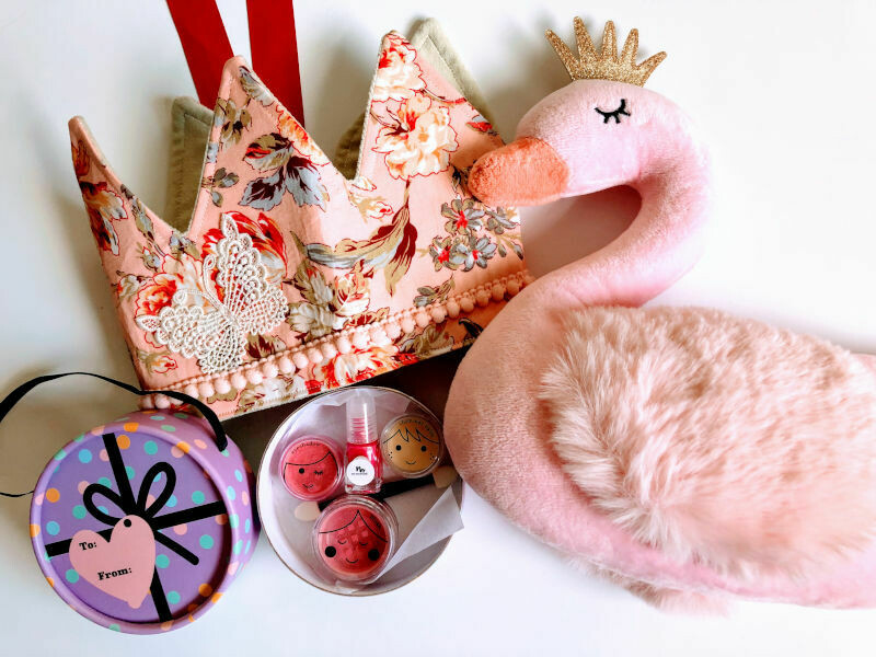 Play Makeup Gift Bag - Pink Swan with Accessories