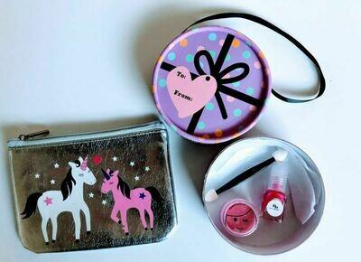 Play Makeup Gift Bag - Silver Unicorns