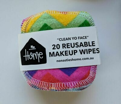 No Nasties Home Reusable Makeup Wipes