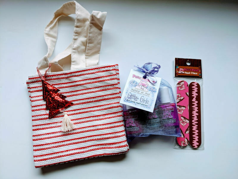 Christmas Red Gift Bag - Piggy Paint