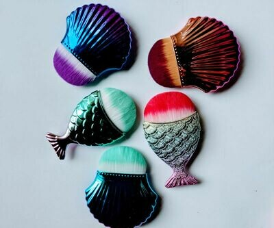 Fish and Shell Makeup Brushes