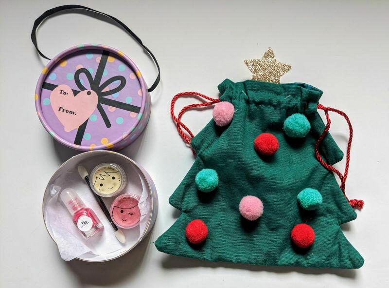 Christmas Tree Gift Bag - Purple Gift Box