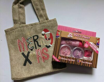 Merry Xmas Gift Bag - Piggy Paint