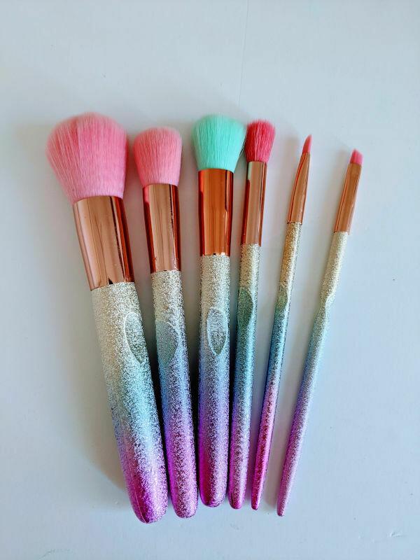 Makeup Brush Set Rainbow