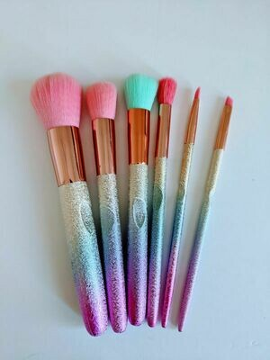 Makeup Brush Set Rainbow