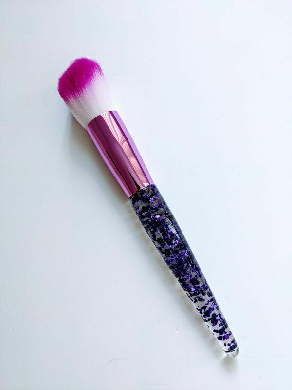 Makeup Brush Purple Sparkles