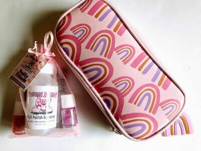 Play Makeup Gift Bag - Pink & Purple Rainbows