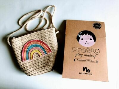 Play Makeup Gift Bag - Straw Rainbow