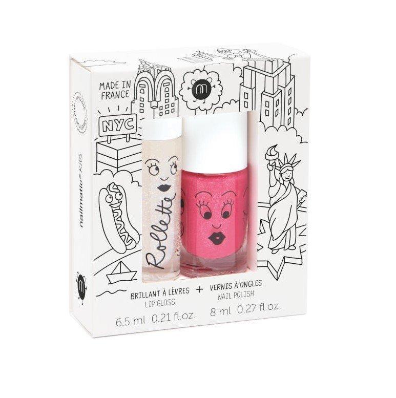 Nailmatic kids lip gloss and nail polish - New York