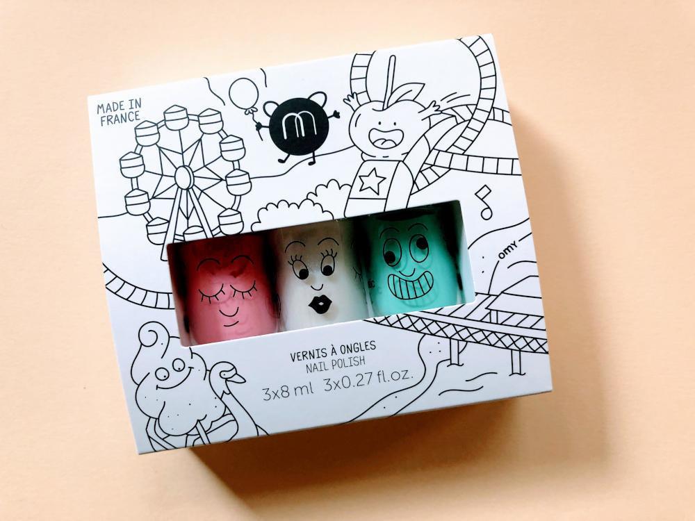 Nailmatic kids nail polish 3 pack - Funfair
