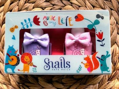 Snails Safe 'N' Beautiful Music is my Life 2 Pack Nail Polish