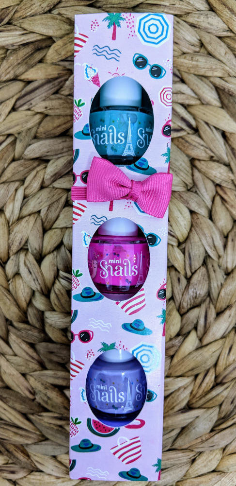 Snails Safe 'N' Beautiful Very Berry Licious 3 Pack Mini Nail Polish