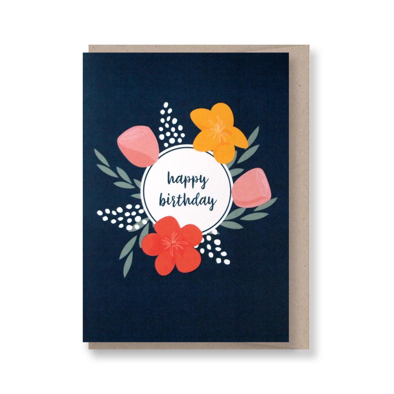 Happy Birthday Bunch - Navy