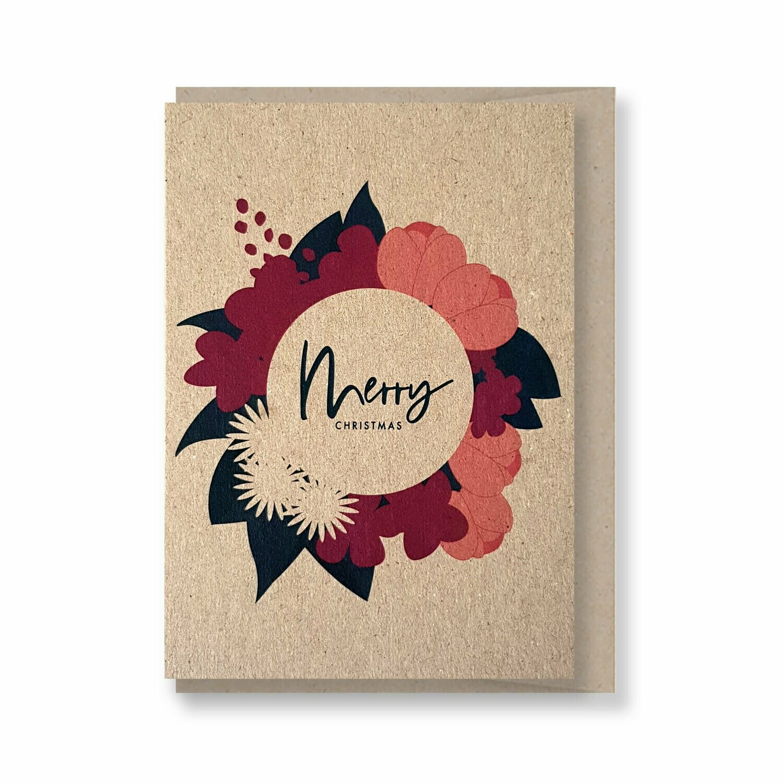 Christmas wreath - Christmas Gift Card