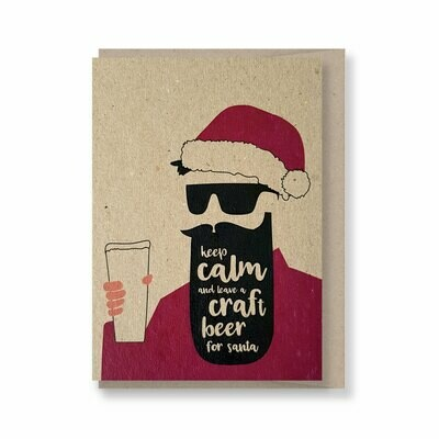 Keep calm and leave a craft beer for Santa - Christmas Gift Card